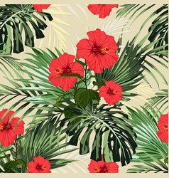 floral fashion tropic wallpaper vector image