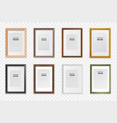 frames a4 set transparent vector image