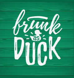 Frunk as duck funny handdrawn dry brush style vector