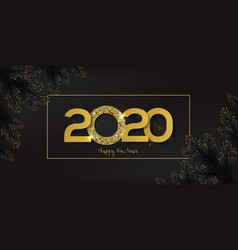 Gold 2020 happy new year vector