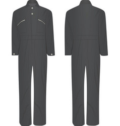 Gray working uniform vector