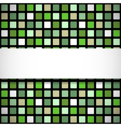 Green stained-glass window pattern vector image