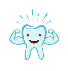 Happy healthy tooth dental clinic dentistry vector