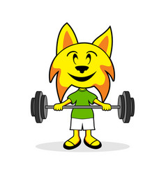 happy little lynx graphic vector image
