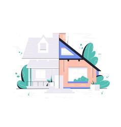 home renovation plan vector image