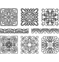 Image various decorative elements outlines vector