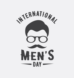 international men day or father day emblem on vector image