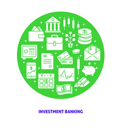 investment banking round concept in flat style vector image