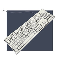 keyboard with characters vector image
