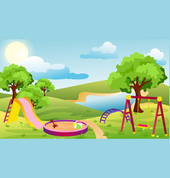 Kids playground set vector