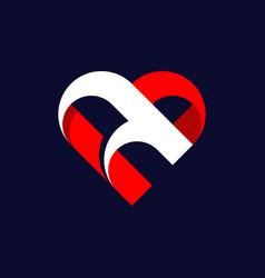 Letter a love creative abstract modern logo vector