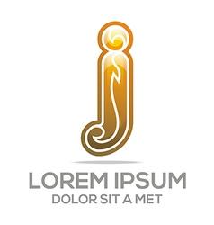 letter j i element icon vector image