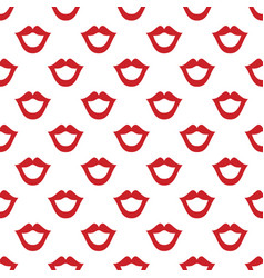 lips seamless texture bright white red color vector image