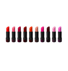 Lipstick set on white background beauty vector