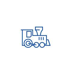 locomotive train toy line icon concept locomotive vector image