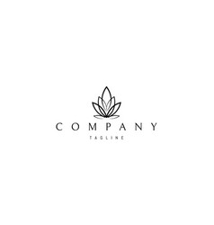 logo on which an abstract image cannabis vector image