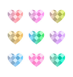 love pattern 1 vector image