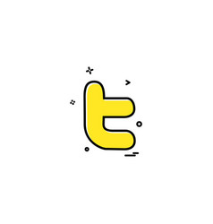 Media network social twitter icon design vector