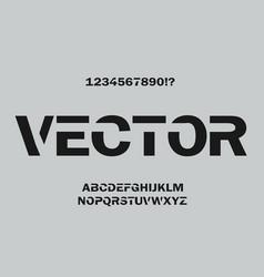 minimal font design for typographyon on grey vector image