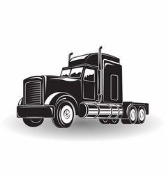 Monochrome truck icon vector