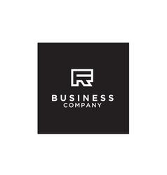 monogram fr rf letter initials logo vector image