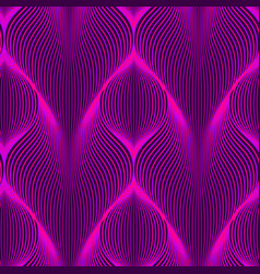 neon lines seamless pattern background with vector image