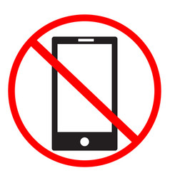 no cell phone sign on white background no mobile vector image