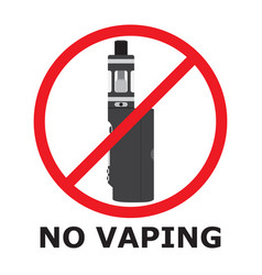 No vaping sign flat style prohibition sign no vector