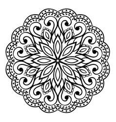 oriental simple mandala vector image