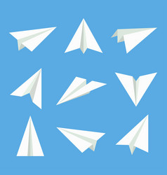 Paper plane set vector