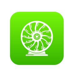 Perpetuum mobile icon green vector