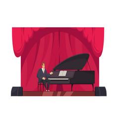 pianist flat vector image