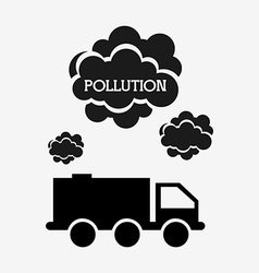 Pollution from industry vector