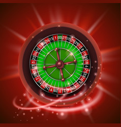 Realistic casino gambling roulette wheel isolated vector