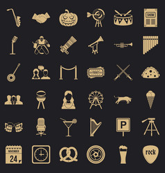 Session icons set simple style vector