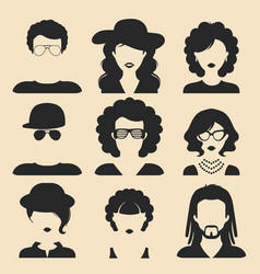 Set different male and female icons in vector