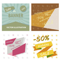 set of sale banner big sale banner template vector image