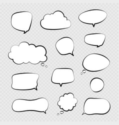 speech bubbles comic talking bubble dialogue or vector image