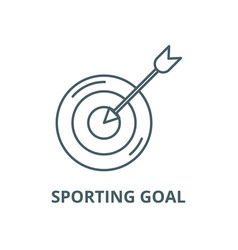 sporting goal line icon linear concept vector image