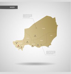 Stylized niger map vector