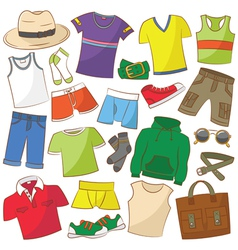 Summer menwear vector