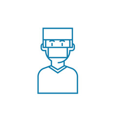 Surgeon linear icon concept surgeon line vector