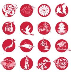 Symbols japan vector