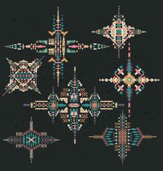 tribal ethnic ornament aztec decor vector image