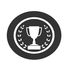 Trophy cup with Laurel wreath icon 1 vector