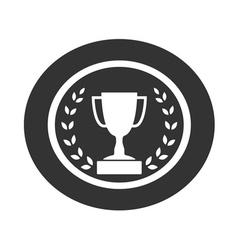 Trophy cup with laurel wreath icon 1 vector