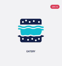 Two color eatery icon from food concept isolated vector