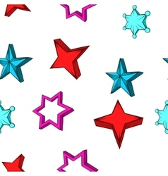 Types of stars pattern cartoon style vector