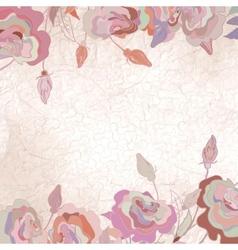 Vintage Floral Roses Background vector