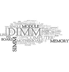 what is a dimm text word cloud concept vector image